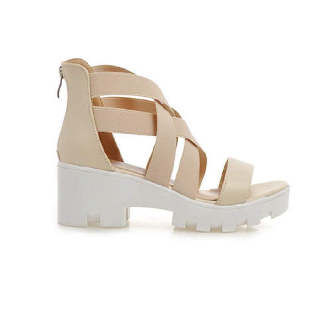 Open Toe Gladiator Sandals Women Cover Heels High Heels Platform Sandals Summer Shoes Woman Sandals