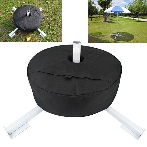 Elfjoy Foldable Beach Umbrella Stand & Round Base Weight Sand Bag Adjustable Portable Outdoor Sunshade Umbrella Base Holder (Stand+Weight Bag) by Elfjoy