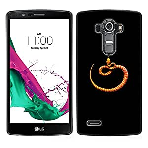 [Neutron-Star] Snap-on Series Teléfono Carcasa Funda Case Caso para LG G4 [Orange Black Minimalist Snake Nature]
