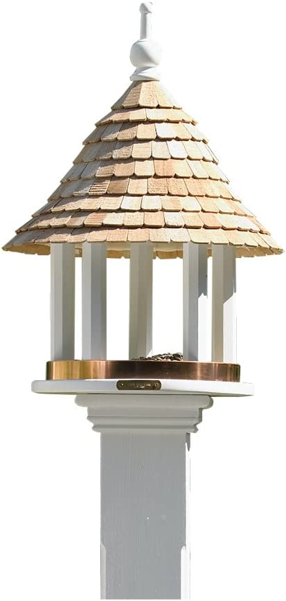 Lazy Hill Farm Designs 41501 Lazy Hill Feeder White Solid Cellular Vinyl With Natural Redwood Shingle Roof 17 Inch By 24 Inch Amazon Co Uk Garden Outdoors