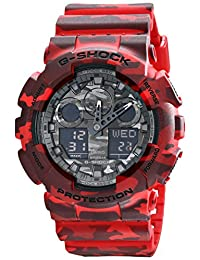 Casio Men's G-Shock GA100CM-4A Red Resin Quartz Watch