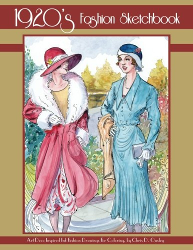 Amazon Com 1920 S Fashion Sketchbook Art Deco Inspired Fashion Ink Drawings 9781540366276 Ousley Chris D Books