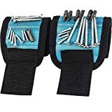 Magnetic Wristband with Strong Magnets for Holding Screws, Nails, Drill Bits (Pro-Blue)