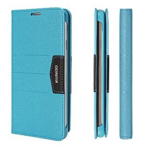 Eonice Mango Series Premium Leather Cover Case for Samsung Galaxy Note 3 Note III N9000 - Retail Packaging - Blue