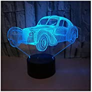 Night Light New Car USB 3D Night Light Classic Car 3D Lighting Creative Colorful Touch 3D Table Lamp
