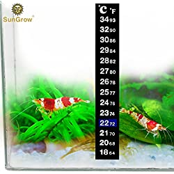 Stick-on Thermometer for Shrimps & Hermit Crabs - Provides Accurate Temperature - Assists in Breeding and Keeping Pets Healthy - Easy Set up - Just Peel and Stick to Install