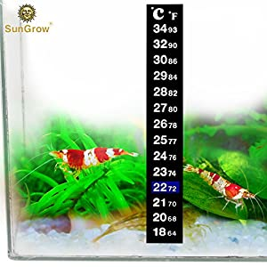 Stick-on Thermometer for Shrimps & Hermit Crabs - Provides Accurate Temperature - Assists in Breeding and Keeping Pets Healthy - Easy Set up - Just Peel and Stick to Install 7