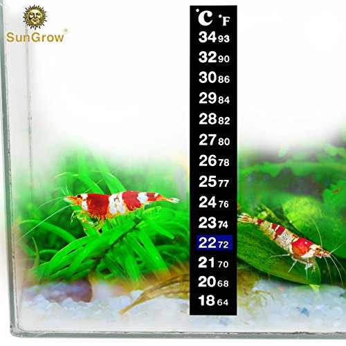 - Stick-on Thermometer for Shrimps & Hermit Crabs - Provides Accurate Temperature - Assists in Breeding and Keeping Pets Healthy - Easy Set up - Just Peel and Stick to Install