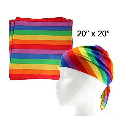 Amscan Bandana, Party Accessory, Rainbow