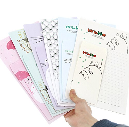 SCStyle 30 Cute Kawaii Lovely Four Leaf Design Writing Stationery Paper Letter Set with 15 Envelope