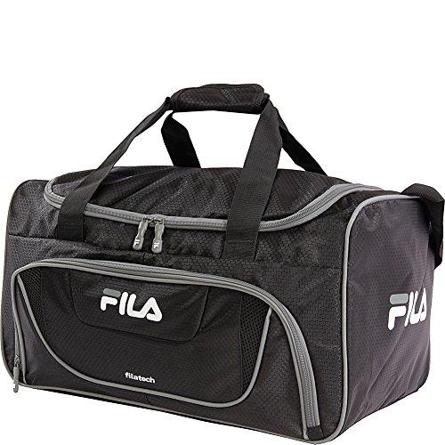 Fila Ace 2 Small Duffel Sports Gym Bag, Black/Grey, One Size