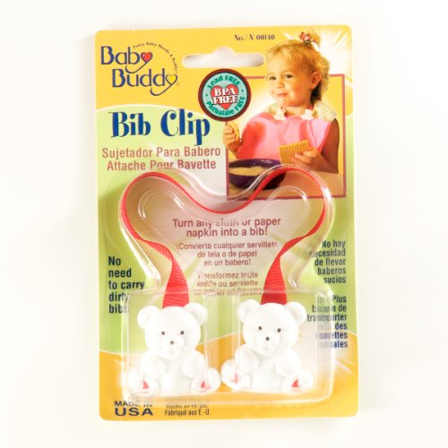 Baby Buddy Bib Clip Red (Pack Of 18)