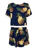 Best Choies Bathing suits - Choies Women's Dark Blue Pineapple Print 2 Pcs Review