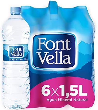 Font Vella, Agua Mineral Natural - Pack 6 x 1,5L: Amazon.es: Alimentación y bebidas