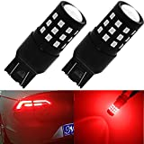 Nasibo Super Bright Low Power 7443 T20 33-SMD LED Bulbs with Projector Replacement for Back Up Reverse Lights or Tail Brake Lights,Red