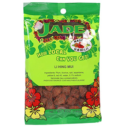 Jade Brand Red Li Hing Mui Dried Plums 5 Ounces
