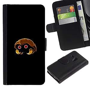 JackGot ( Meter Monstruo de oro de insectos )Samsung Galaxy S3 MINI i8190 (NOT S3) la tarjeta de Crédito Slots PU Funda de cuero Monedero caso cubierta de piel