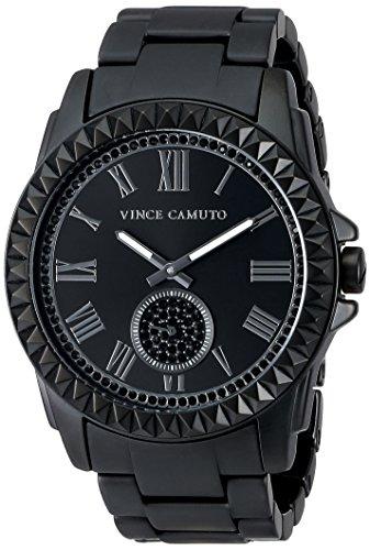 Vince Camuto Women's VC/5191BKBK Swarovski Crystal Accented Matte Black Ceramic Bracelet Watch
