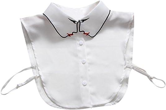 Hunpta - Cuello de camisa postizo para mujer. Desmontable., blanco: Amazon.es: Deportes y aire libre