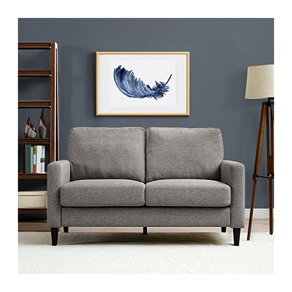 Dorel Living Beckie Loveseat, Gray Love Seats -  - sofas-couches, living-room-furniture, living-room - 51bltjpxaaL. SS570  -