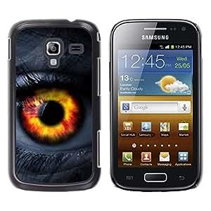 Caucho caso de Shell duro de la cubierta de accesorios de protección BY RAYDREAMMM - Samsung Galaxy Ace 2 I8160 Ace II X S7560M - Orange Passion Woman Lashes