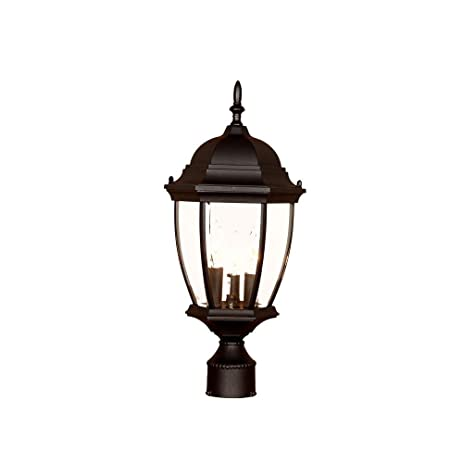 Amazon acclaim 5017bk wexford collection 3 light post mount acclaim 5017bk wexford collection 3 light post mount outdoor light fixture matte black workwithnaturefo