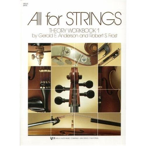 - All For Strings - Theory Workbook 1 for Violin by Gerald E Anderson and Robert S Frost