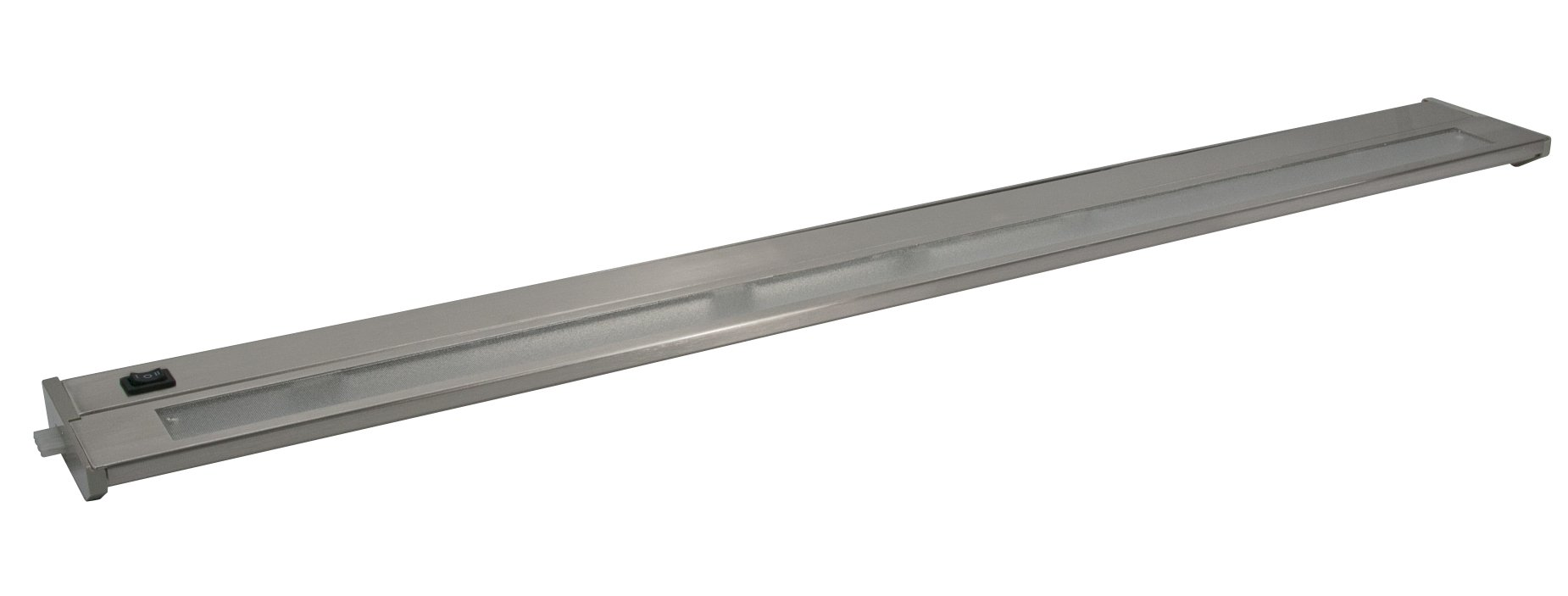 American Lighting 043X-4-BS Priori Xenon Under Cabinet Hardwire Light, 80-Watts, Hi/Low/Off Switch, 120-Volt, 32-Inch, Brushed Steel
