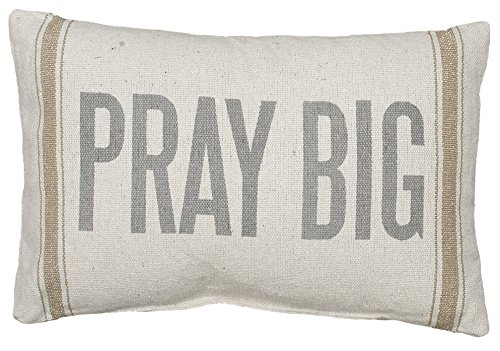 Primitives-by-Kathy-3-Stripe-Pray-Big-Pillow-15-by-10-Inch-Tan
