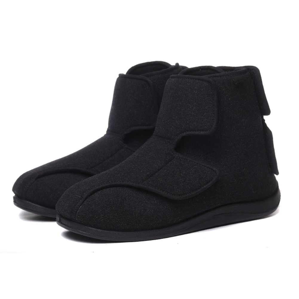 Men's Plush Fleece Lined Extra Wide Swollen Boots, Plantar Fasciitis Orthopedic Diabetic Edema Flat Feet Bunions Shoes