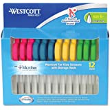 Westcott Kids Plastic Handle Scissors With Anti-microbial Protection, 5-Inch, 12-Pack (14872)