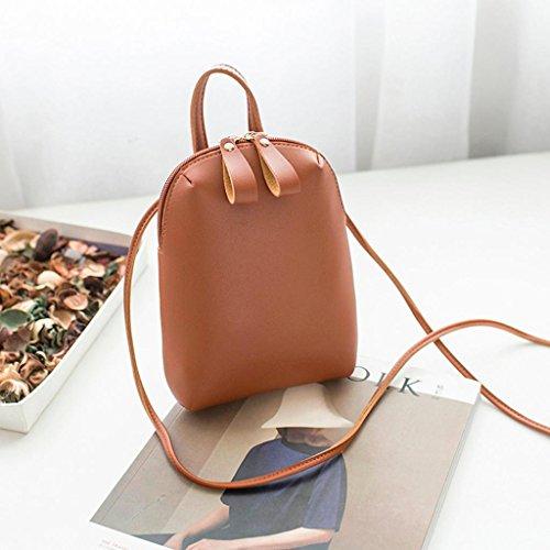 Normallack-Doppelreihige Shell-Art Schulter Tasche HARRYSTORE Mode Damen Crossbody Tasche Umhängetasche Schultertasche Handtasche (Rot) Braun TYyNUIkThc