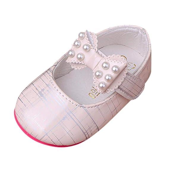 ZODOF Niño Niños Niñas Bebé Princesas Zapatos Arco Raya Suave Perlas Sandalias Zapatillas Zapatos Zapatillas Respirable M Zapatillas: Amazon.es: Ropa y ...