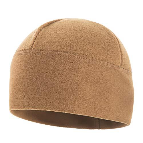 - M-Tac Tactical Hat Windproof Fleece 380 Mesh Watch Military Skull Cap Beanie (Coyote Brown, Medium)
