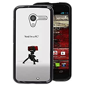 Motorola Moto X 1 1st GEN I - Impreso colorido protector duro espalda Funda piel de Shell (I'm a PC)