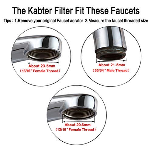 Kabter Faucet Mount Water Filter System Tap Water Filtration Purifier,Chrome