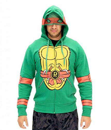Teenage Mutant Ninja Turtles I Am Raphael Costume Zip Hoodie (Adult Large) Size Large Color Raphael - Raphael Hoodie Adult Costumes
