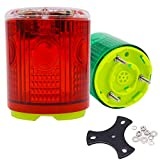 Aolyty Wireless 3 Screws Solar Powered Strobe Warning Light Flashing Beacon Super Bright Waterproof, can weld or bolt, Surface Mounted 1 Pack (Red)