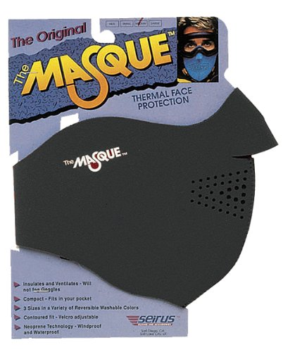 - The Masque Thermal Face Protection , Gender: Mens/Unisex, Primary Color: Black, Distinct Name: Black, Size: Md
