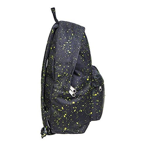 Hype Negro/Verde Neón Splat Mochila Bolso - Ideal Bolsas De Escuela - mochila para niños y niñas
