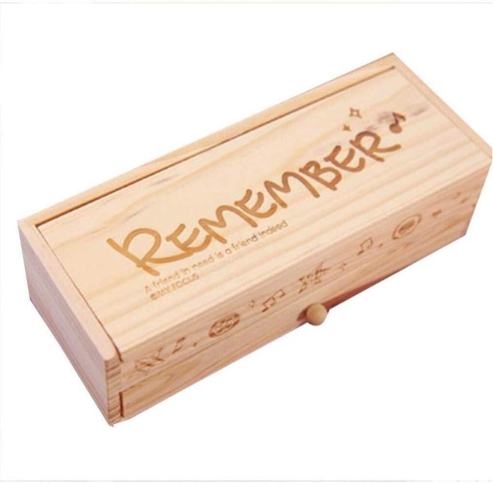 Estuche multifuncional Estuche de madera multifuncional con pizarra, lindo escritorio, caja de lápices, escritorio, organizador ordenado, soporte for bolígrafo vintage: Amazon.es: Electrónica