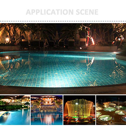 JSN&PC LED Underwater Lights 18W RGB Color Changing with RF Remote Controller & IP68 Waterproof Joint for Party Swimming Pool Fountain Water Rockery Grass Land by JSN&PC (Image #7)