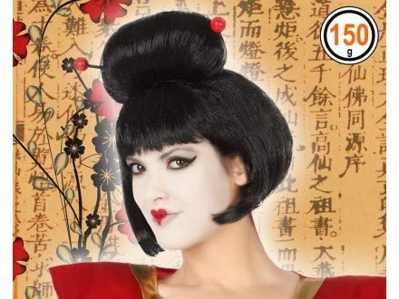 Atosa-50147 Peluca Geisha Color negro única (50147: Amazon.es ...
