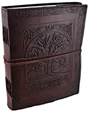 Large Tree of Life Leather Blank Book by AzureGreen