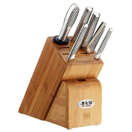 Global Takashi 7 Piece Professional Cutlery Block Set