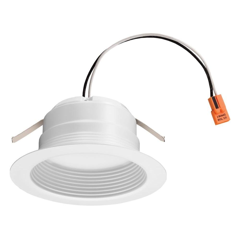 Lithonia Lighting 4BEMW LED 30K M6 4 Inch 11.9W White LED Recessed Baffle Module, 3000K