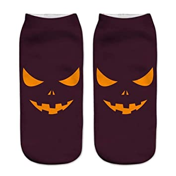 GSYDWZZH Calcetines Calcetines 3D 5pcs Calcetines de la impresión 3D de Halloween Calcetines cómodos en Calcetines elásticos Suaves de los Deportes: ...