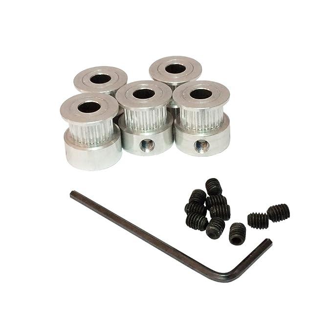 2Pcs gt2 timing pulley 20t 5//8mm 2m belt 6mm width kit for 3d printer reprapWI