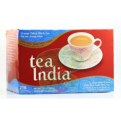 Tea India Orange Pekoe Black Tea Premium Assam Blend 216 Round Tea Bags (1 lb 8 oz / 680 g)