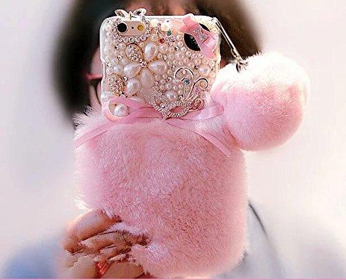 325a73da0dc Image Unavailable. Image not available for. Color: iPhone 7 Plus Case,iPhone  7 Plus Rabbit Fur ...